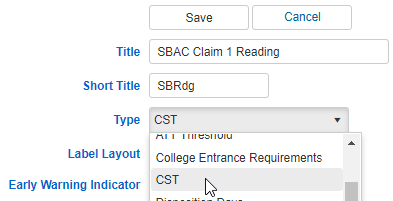 Indicator for Content Standards