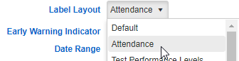 Indicator for Attendance Label Layout