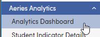 Analytics Dashboard menu screenshot
