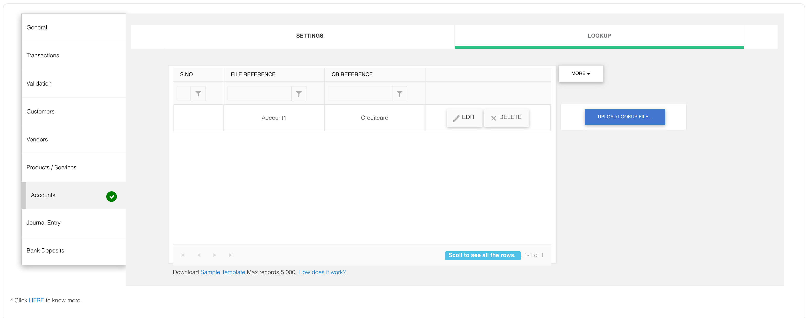 match your own Account names with QuickBooks names