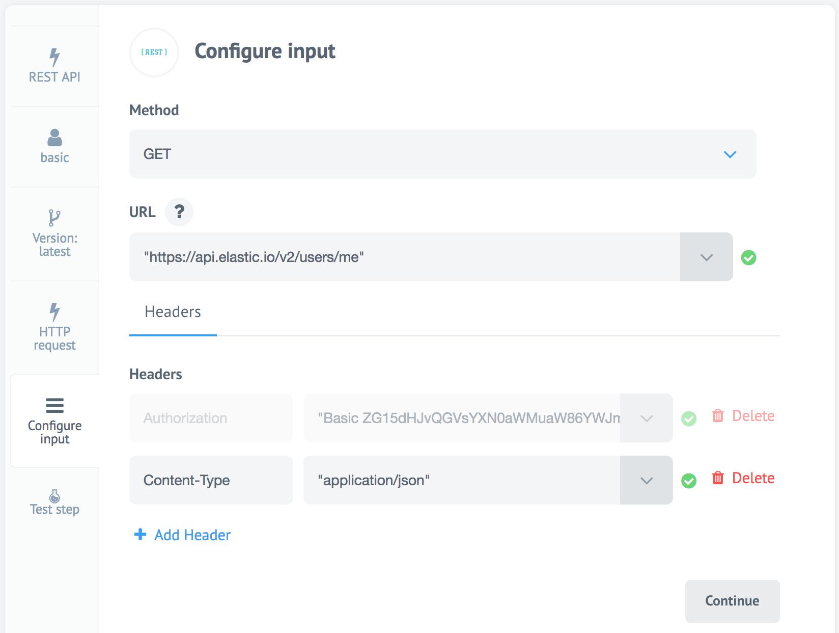 REST API component: Introduction : elastic io