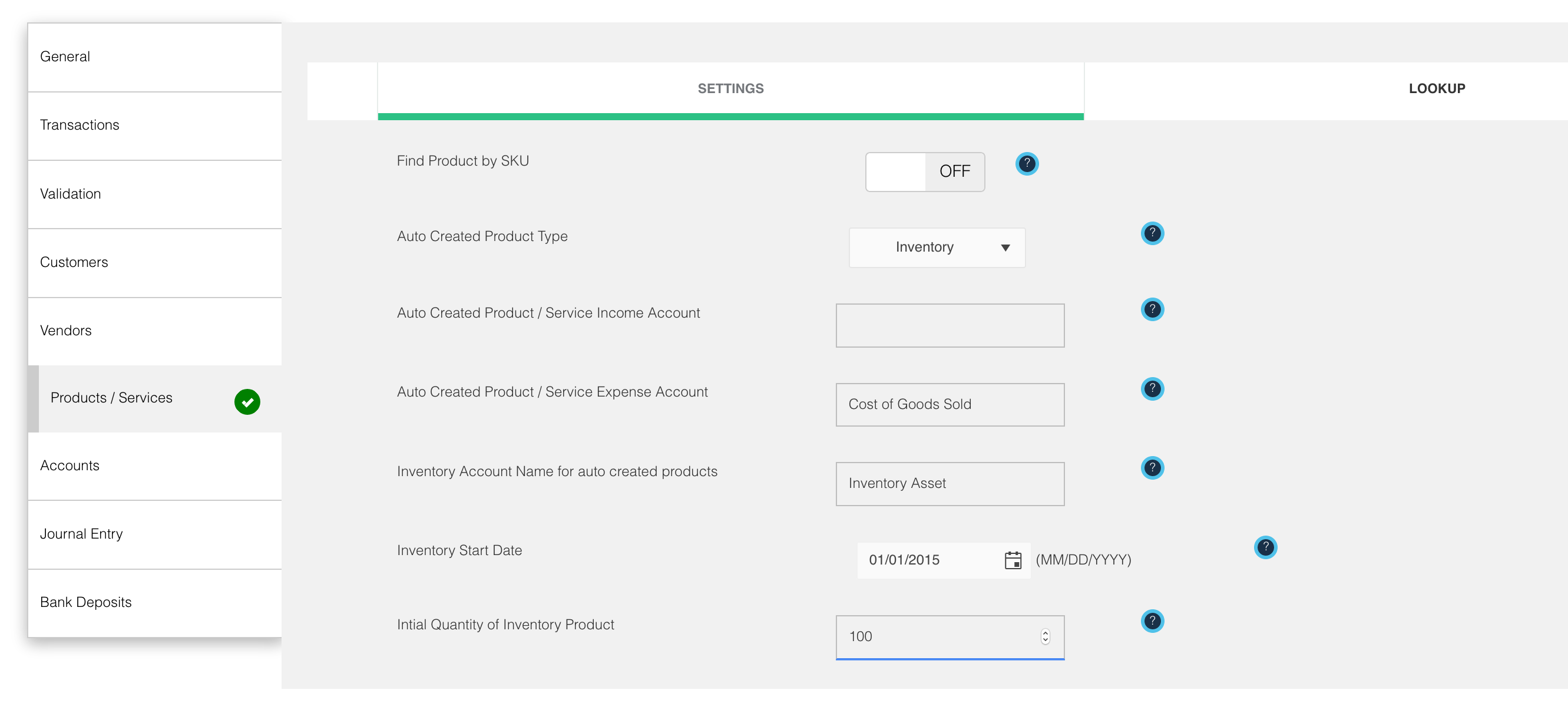 Create Inventory Products automatically into QuickBooks Online