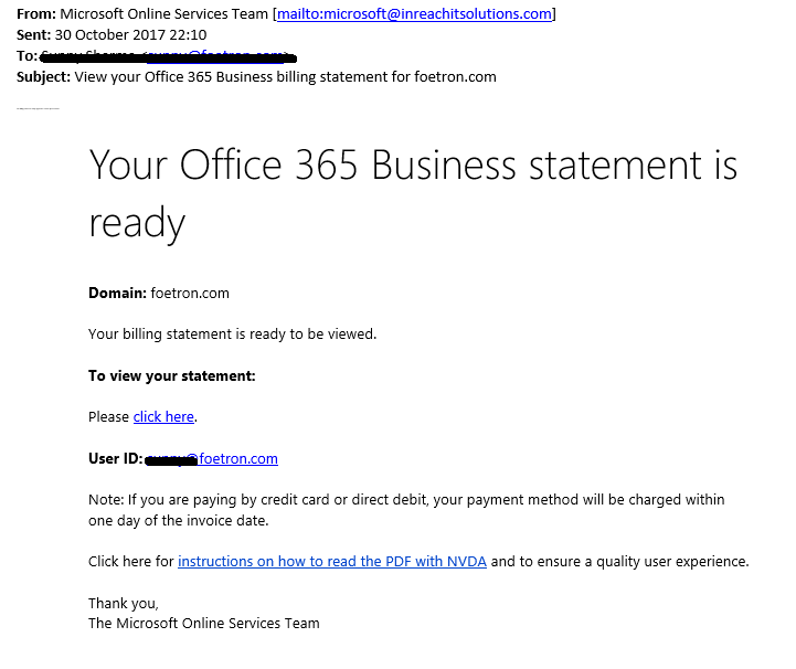 Spam/Phishing emails and how to identify them : Foetron