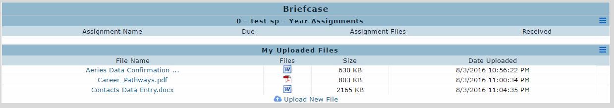 uploaded teacher files
