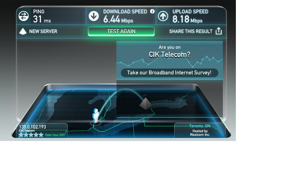 poor internet : CIK Telecom