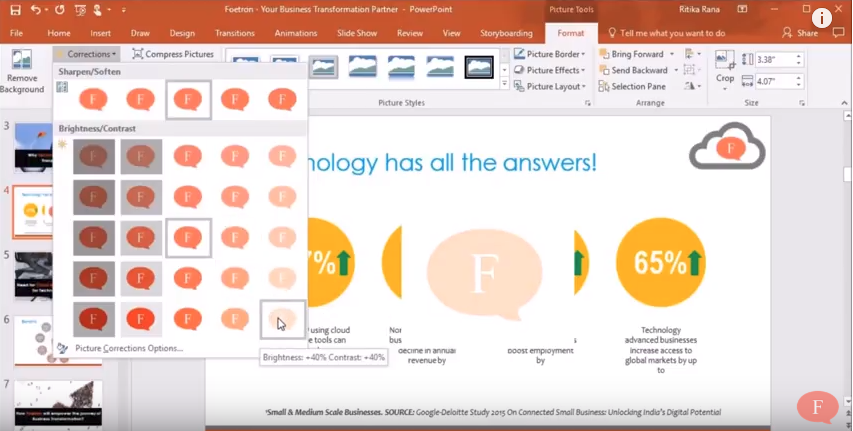 How to add watermark in Microsoft PowerPoint 2016? : Foetron