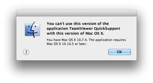 Remote Support for Mac system running OSX 10 10 4 or earlier