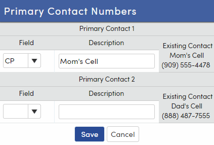 Contact record link form