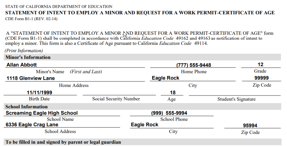 Work Permits - Print Reports : Aeries Software