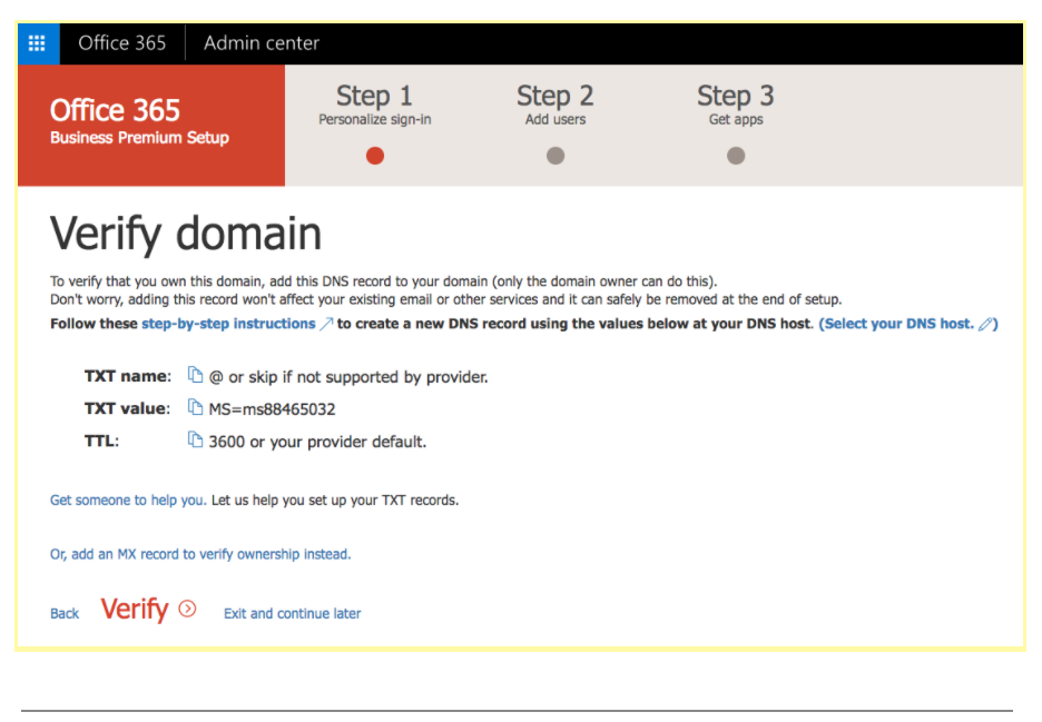 Office 365 Admin Setup using Setup Wizard : Usonyx