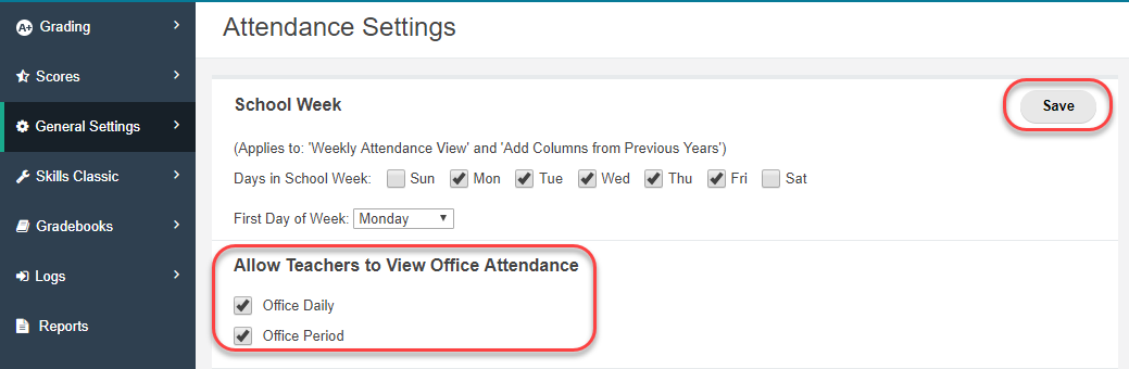 View Office Attendance