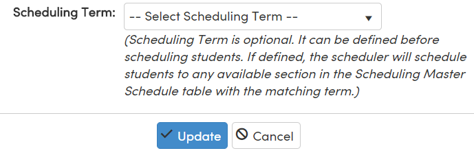 Summer School Terms : Aeries Software