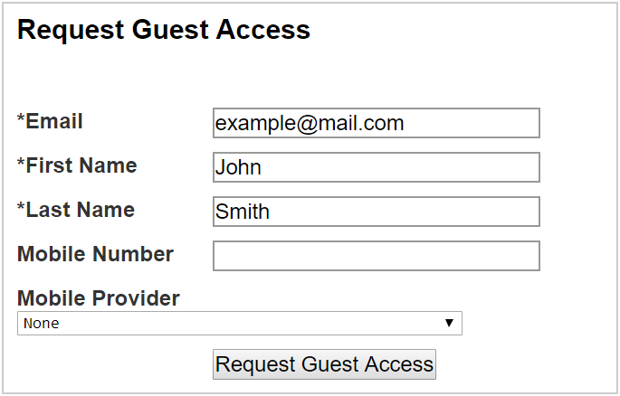 request guest access