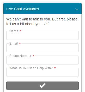 Start Live Chat Form