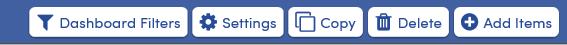 Dashboard Filters additional options screenshot