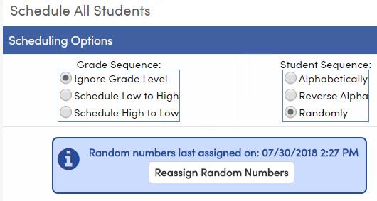 Random numbers last assigned message