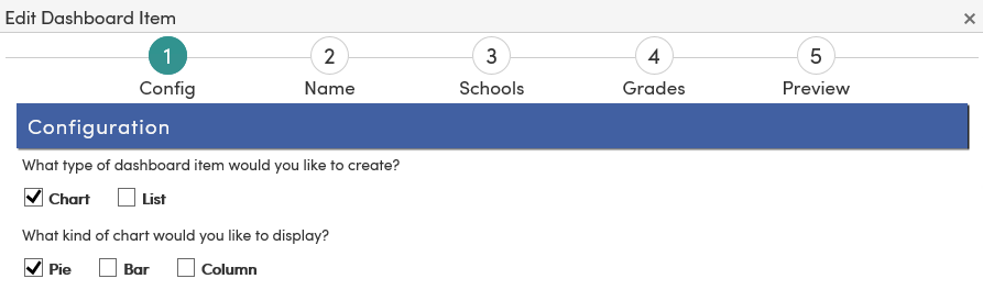 Analytics Dashboard Item - Edit Dashboard Item page 1