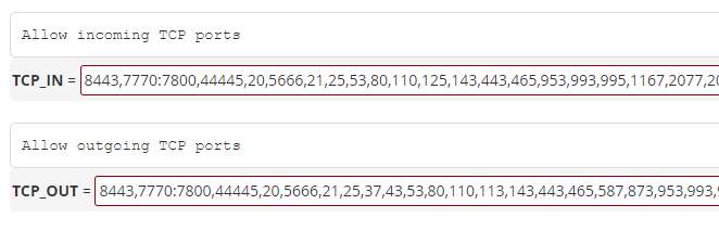 How to open ports in WHM/SSH firewall? : Exabytes SG