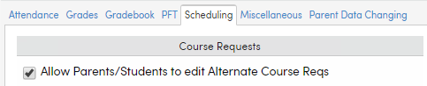 Allow Parents/Students to edit Alternate Course Requests