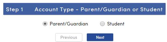 Account type options