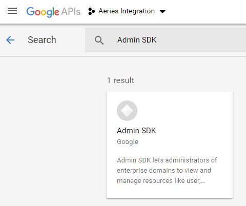 Configure Aeries Integration Project in Google API Console