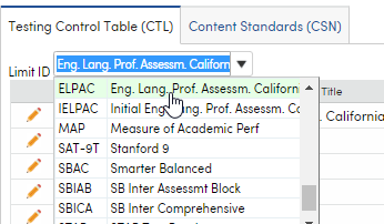 Limit ID on Testing Control Table