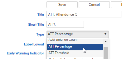 Indicator for Attendance