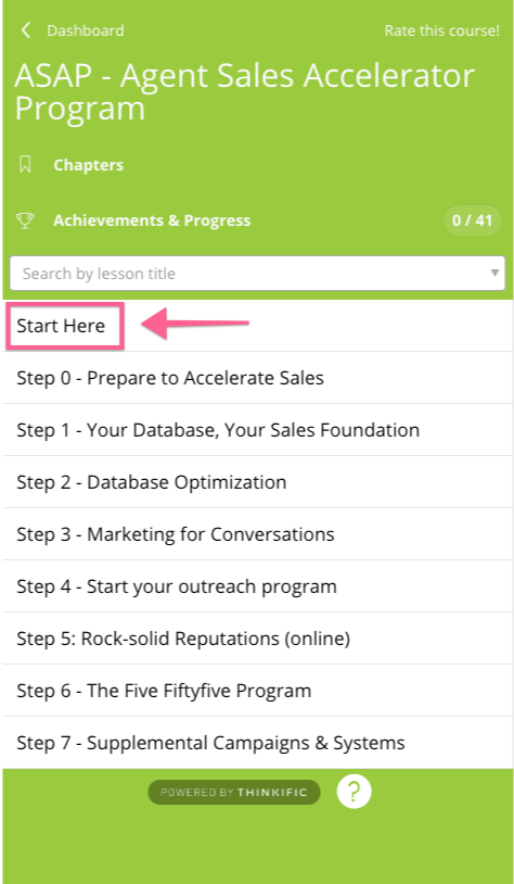 How to Access the Agent Sales Accelerator Program : The