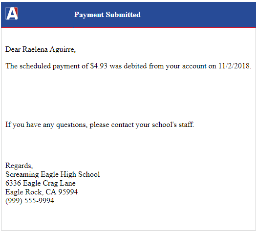 Edbacker Payment Portal for Students : Aeries Software