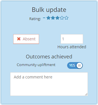 Bulk Attendance Reporting : The Social Collective