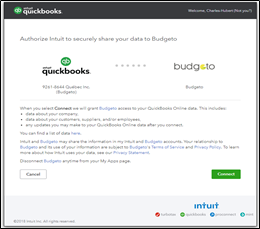 How to link Quickbooks online (QBO) to Budgeto? :
