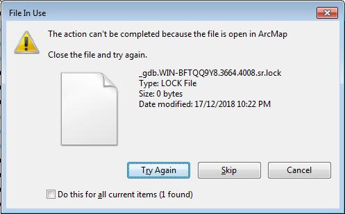 Lock files in an Esri file geodatabase : GIS-pax Helpdesk