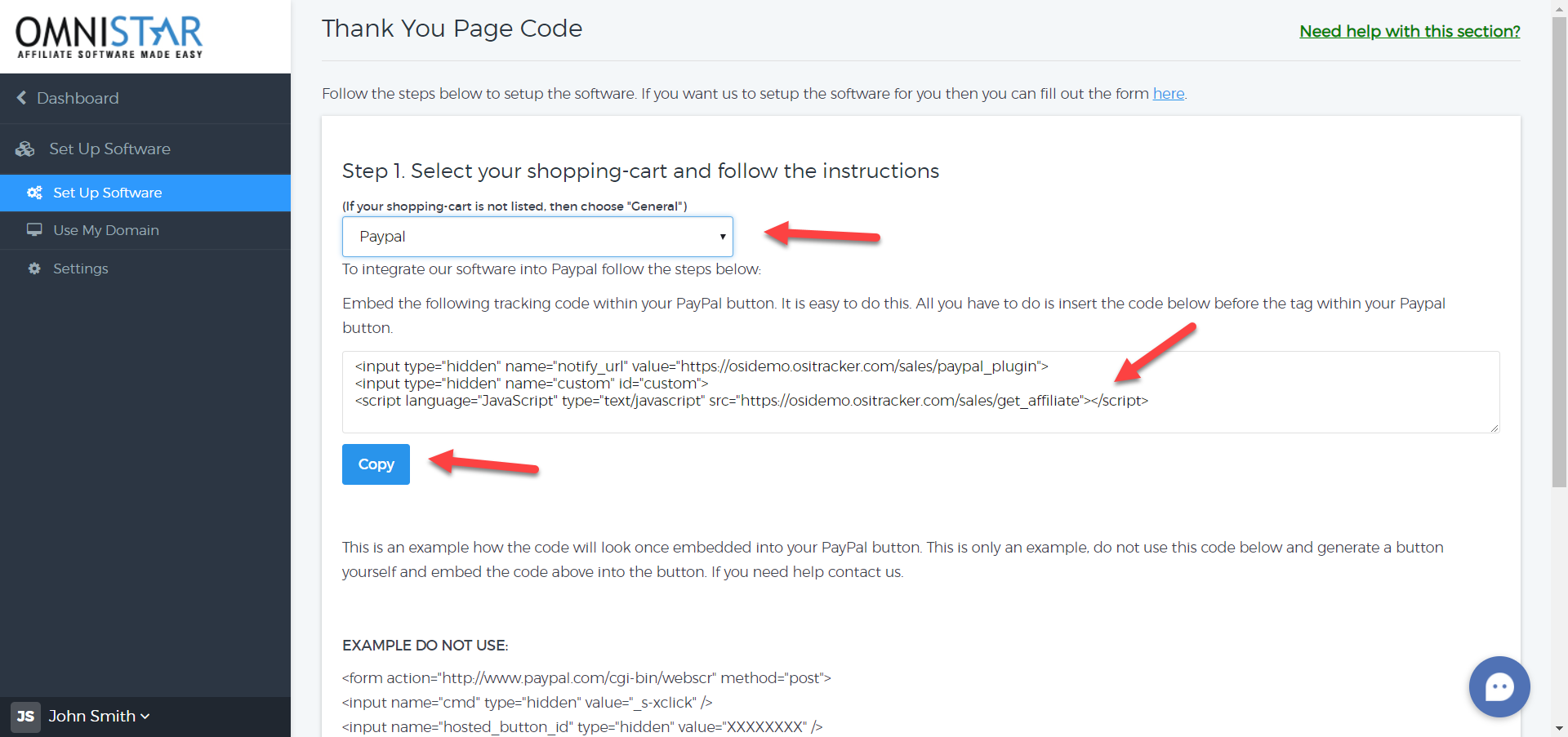 How to integrate OSI Affiliate Software with Paypal buttons