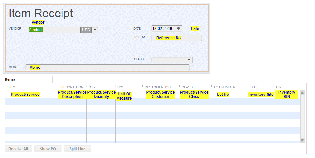 Import Item Receipts into QuickBooks Desktop