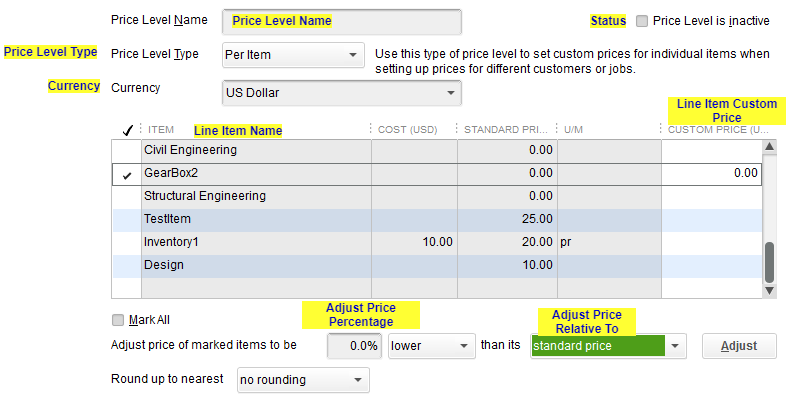 Import Price Level into QuickBooks Desktop