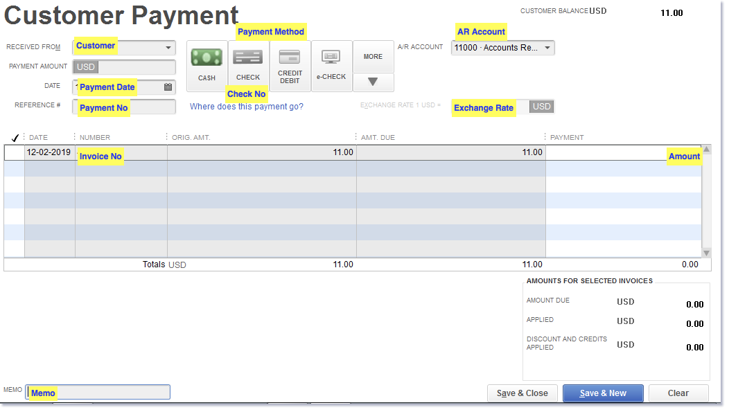 Import Receive Payments into QuickBooks Desktop