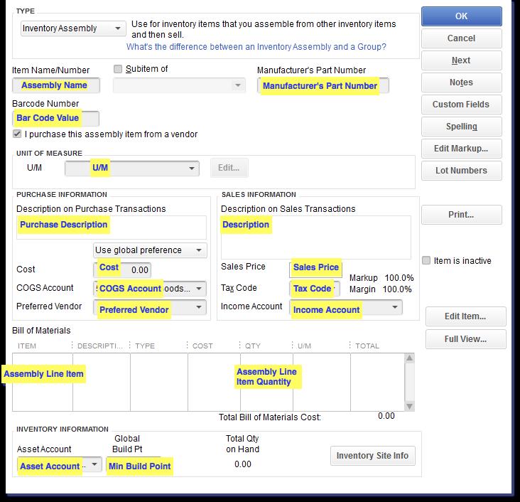 Import Inventory into QuickBooks Desktop