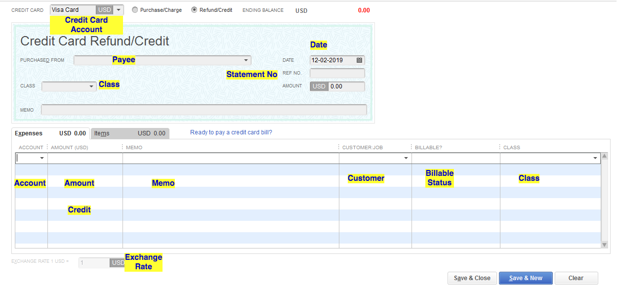 Import Credit Card Transactions into QuickBooks