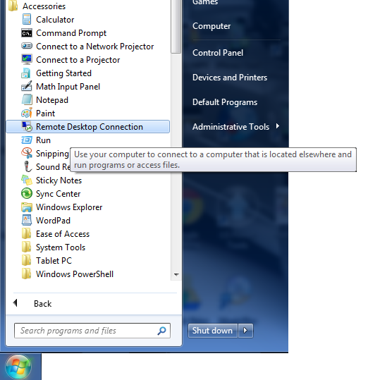 How to connect to windows server using Remote Desktop tool
