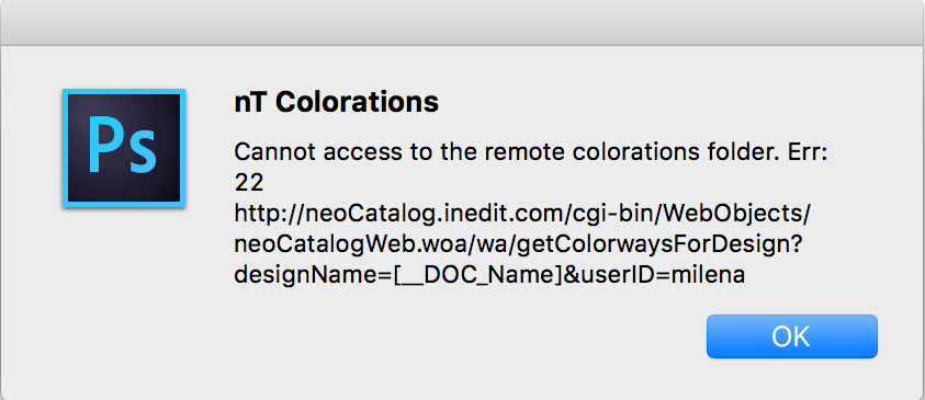 Connection with neoCatalog - Possible Errors : Inèdit Software