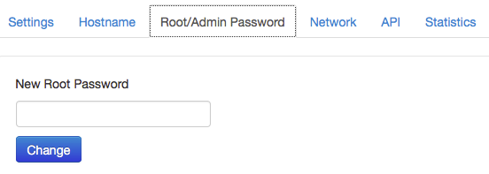 Changing the Root/Admin Password