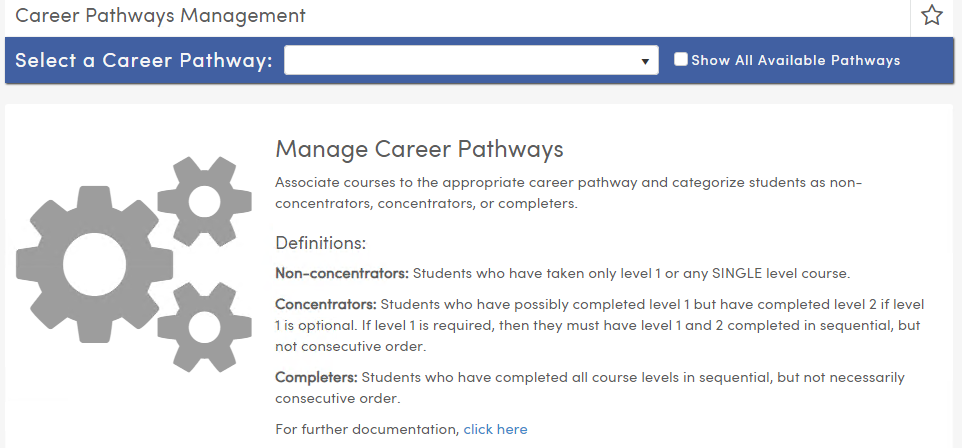 Using the Career Pathways Management Page : Aeries Software
