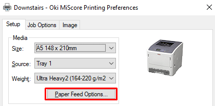MiScore - Oki Prompts to Press Online Button for Each Print