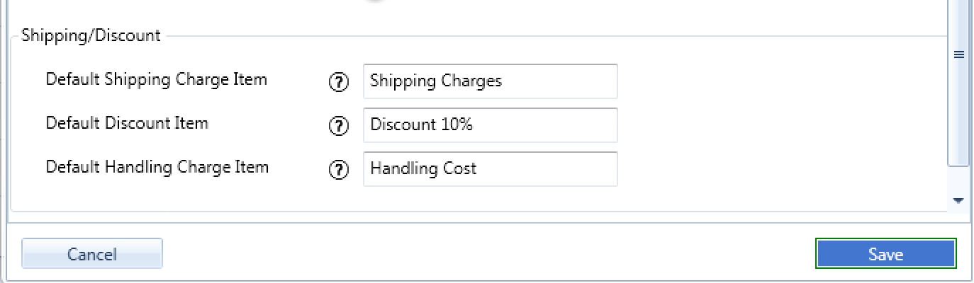 shipping discount import quickbooks