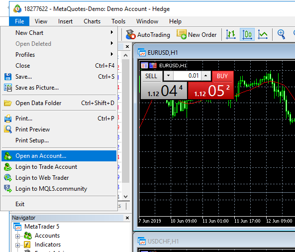 How to Open Demo Account in MetaTrader 5 : Exabytes my