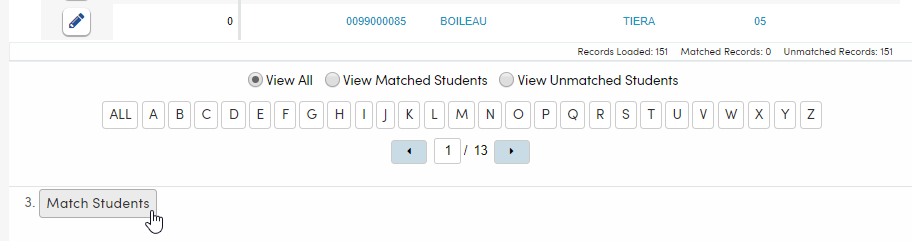 Import Test Results - Match Students