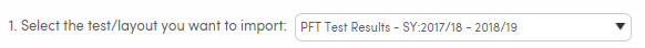 Import Test Results - Select the file layout