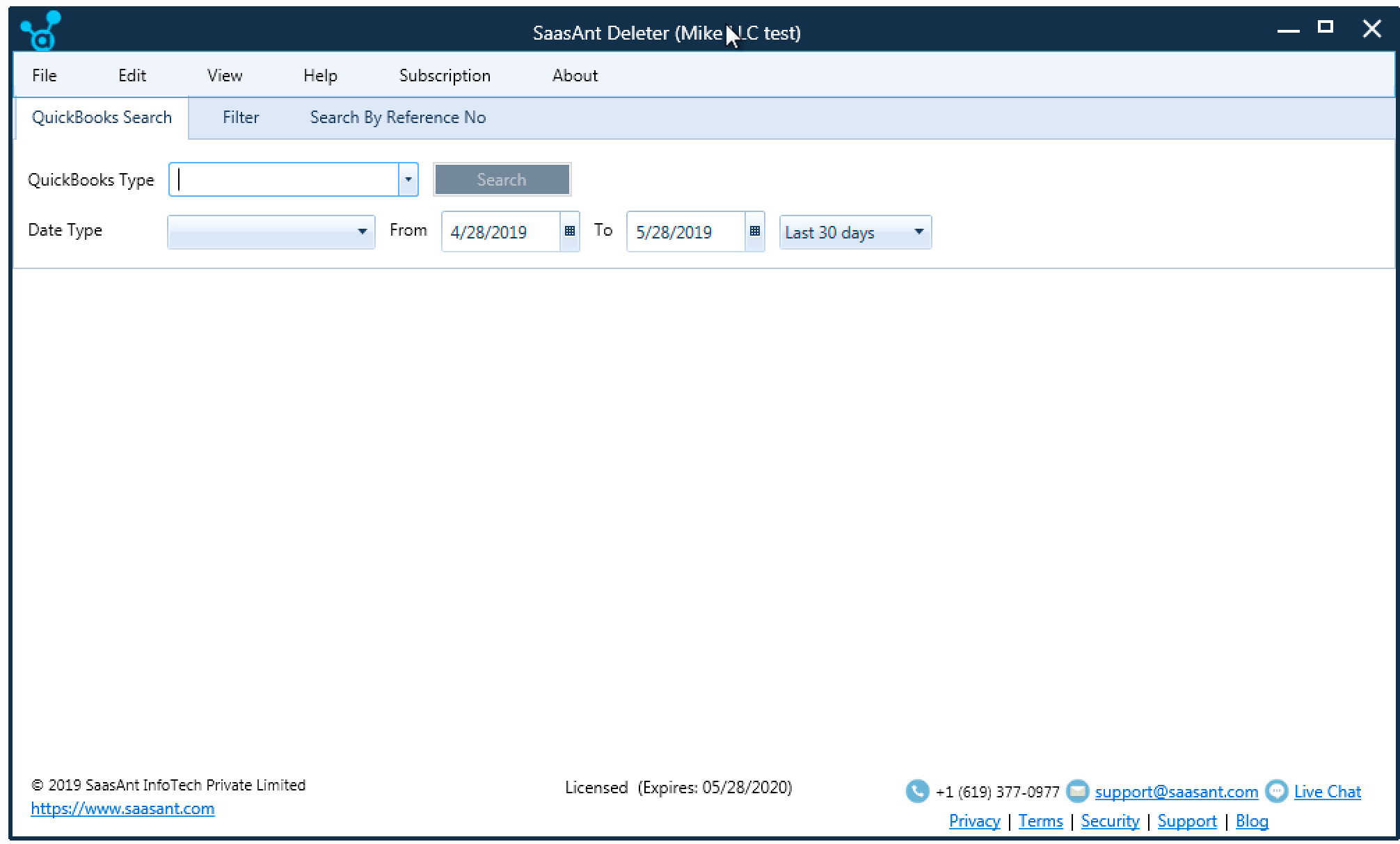 search transactions from quickbooks desktop