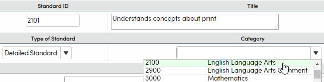 Standards - Add a Substandard example