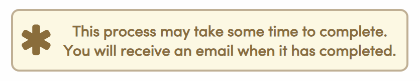 Email confirmation message
